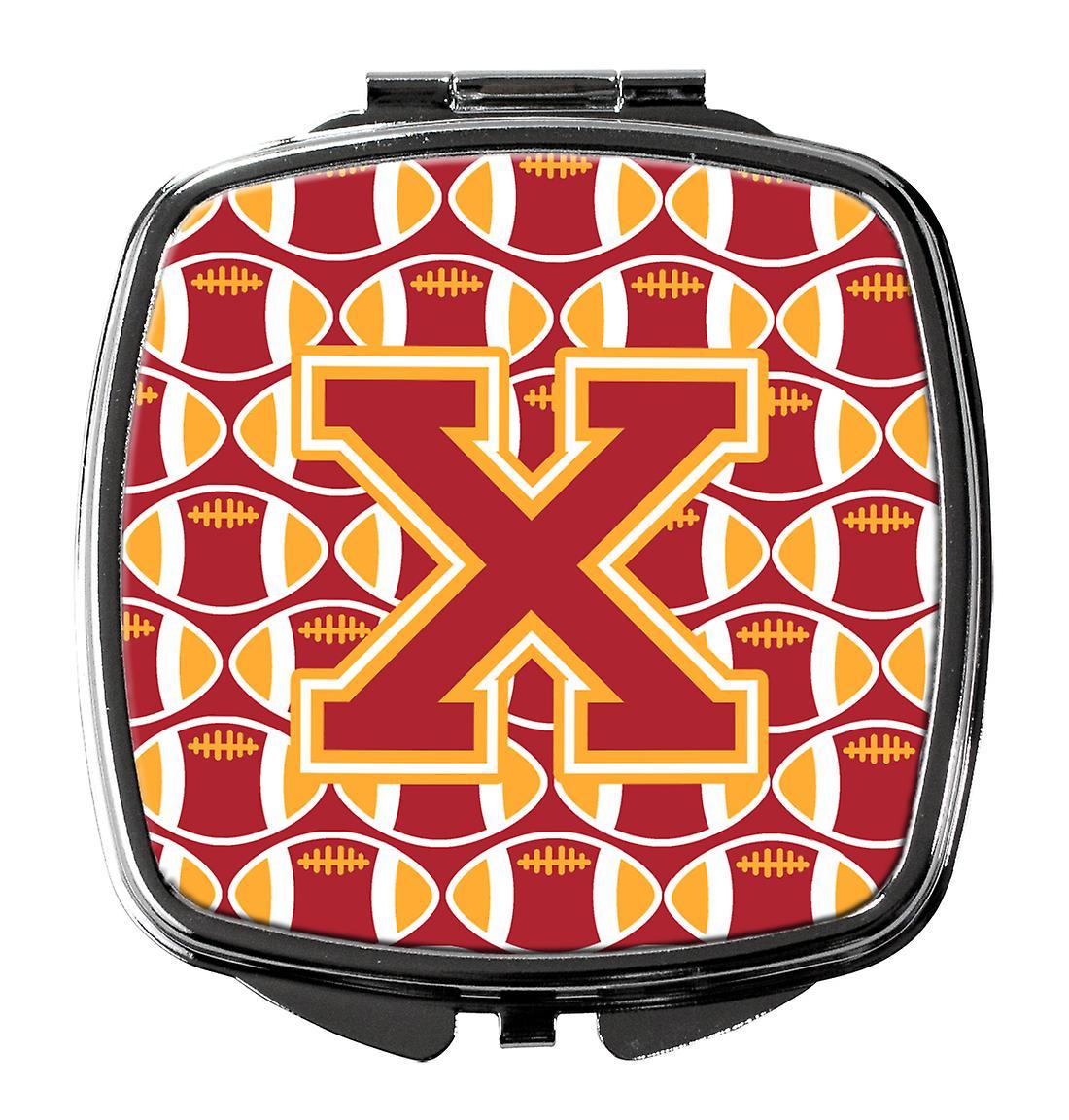 Football X Compact Or Miroir Lettre Et Cardinal Iyfvb7gY6