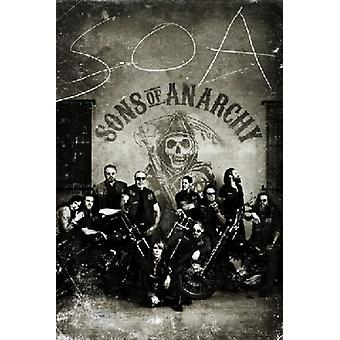Sons Of Anarchy Vintage Poster Poster Print