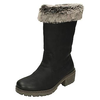 Ladies Rieker Warm Lined Boots Y4590