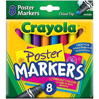 Crayola Poster Markers 8 Pkg 58 8173