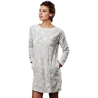 Pastunette 1072-320-2-953 Frauen Luxe Licht grau Floral Night Gown Loungewear Nachthemd