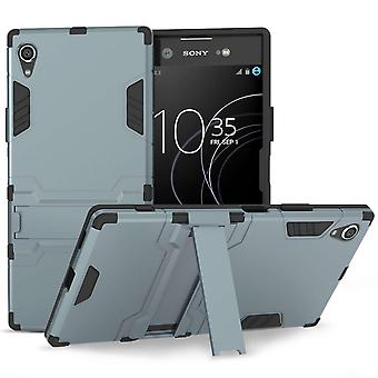 Sony Xperia XA1 Plus Armour Kickstand Case - Steel Blue