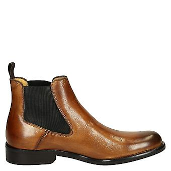 Leonardo shoes men's T042SIVIGLIACUOIO brown leather ankle boots