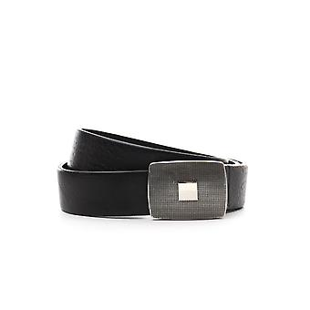 Eleventy men's 979CI0019CIN2000222 black leather belt