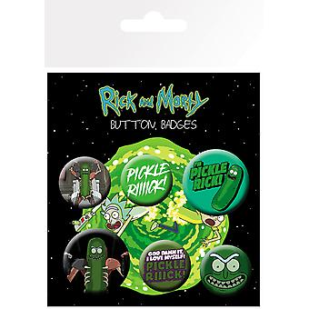Rick und Morty Gurke Rick Badge Pack