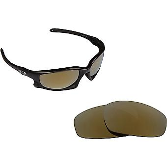 Split Jacket Asian Fit Replacement Lenses Gold by SEEK fits OAKLEY Sunglasses