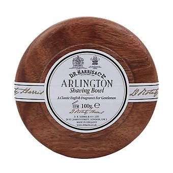 D R Harris Arlington Shaving Soap & Bowl Mahogany 100g