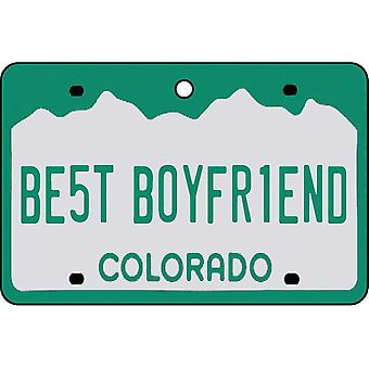 Colorado - Best Boyfriend License Plate Car Air Freshener