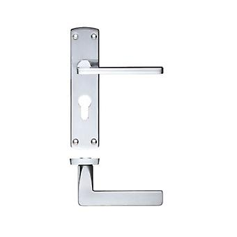 Zoo Leon Lever - Euro Lock - Satin Chrome - ZCZ011EPSC