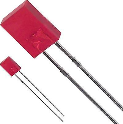 LED wired Red Rectangular 2 x 5 mm 80 mcd
