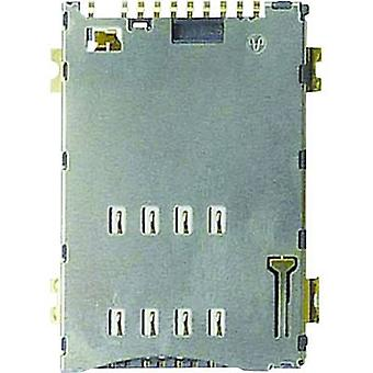 SIM Card connector No. of contacts: 8 Push, Push Yamaichi