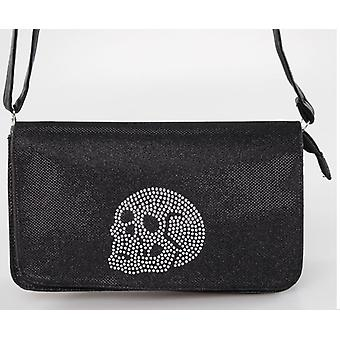 Iron Fist Medium Black Skull Addiction Purse