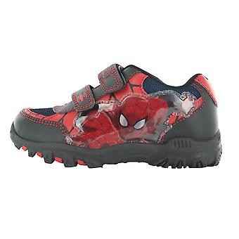 Spiderman Squire Black e Red Hook e Loop formatori UK Taglie bambino 7 - adulto 1