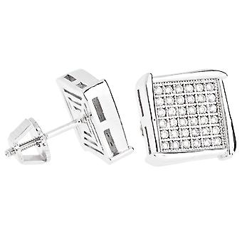 Iced out bling micro pave boucles d'oreilles - NOOK 10 mm
