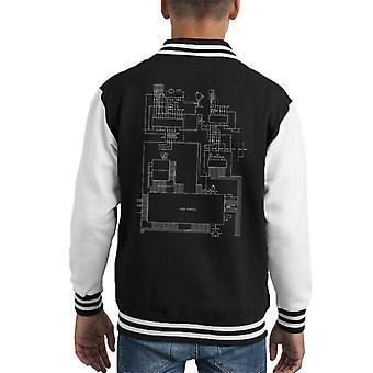 Sega Genesis Computer Schematic Kid's Varsity Jacket