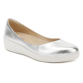 FitFlop Womens Silver SuperBallerina Shoes