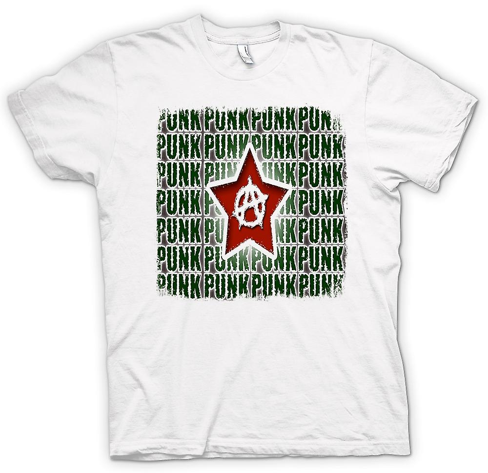 Heren T-shirt - Punk Rock anarchie - Design
