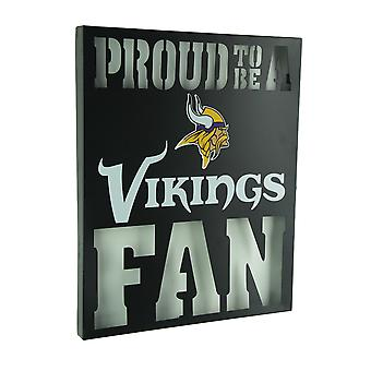 Proud To Be A Minnesota Vikings Fan Cutout Metal Wall Sign