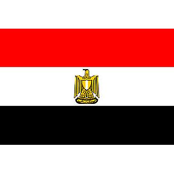 Egyptian Flag 5ft x 3ft With Eyelets For Hanging