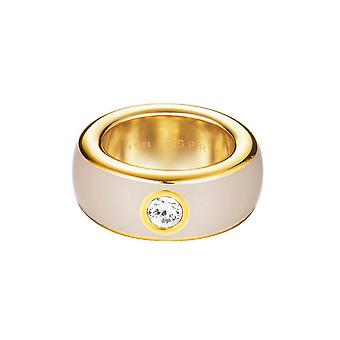 ESPRIT women's ring stainless steel gold fancy beige ESRG12194L1