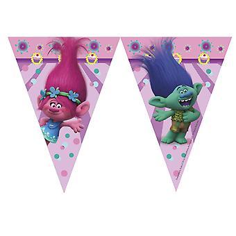 Wimpelkette Girlande Dekokette Trolls Kinderparty Geburtstag
