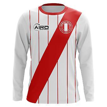 2018-2019 بيرو الأكمام الطويلة مفهوم الوطن لكرة القدم قميص