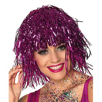 Boland Metallic Foil Tinsel Wig Fancy Dress Shiny Party Accessory