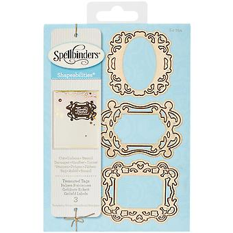 Spellbinders Shapeabilities Dies-Treasured Tags