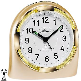 Atlanta 1404/9 alarm clock radio alarm clock analog golden with light Snooze