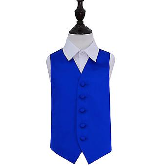 Royal Blue Plain Satin Wedding Waistcoat for Boys