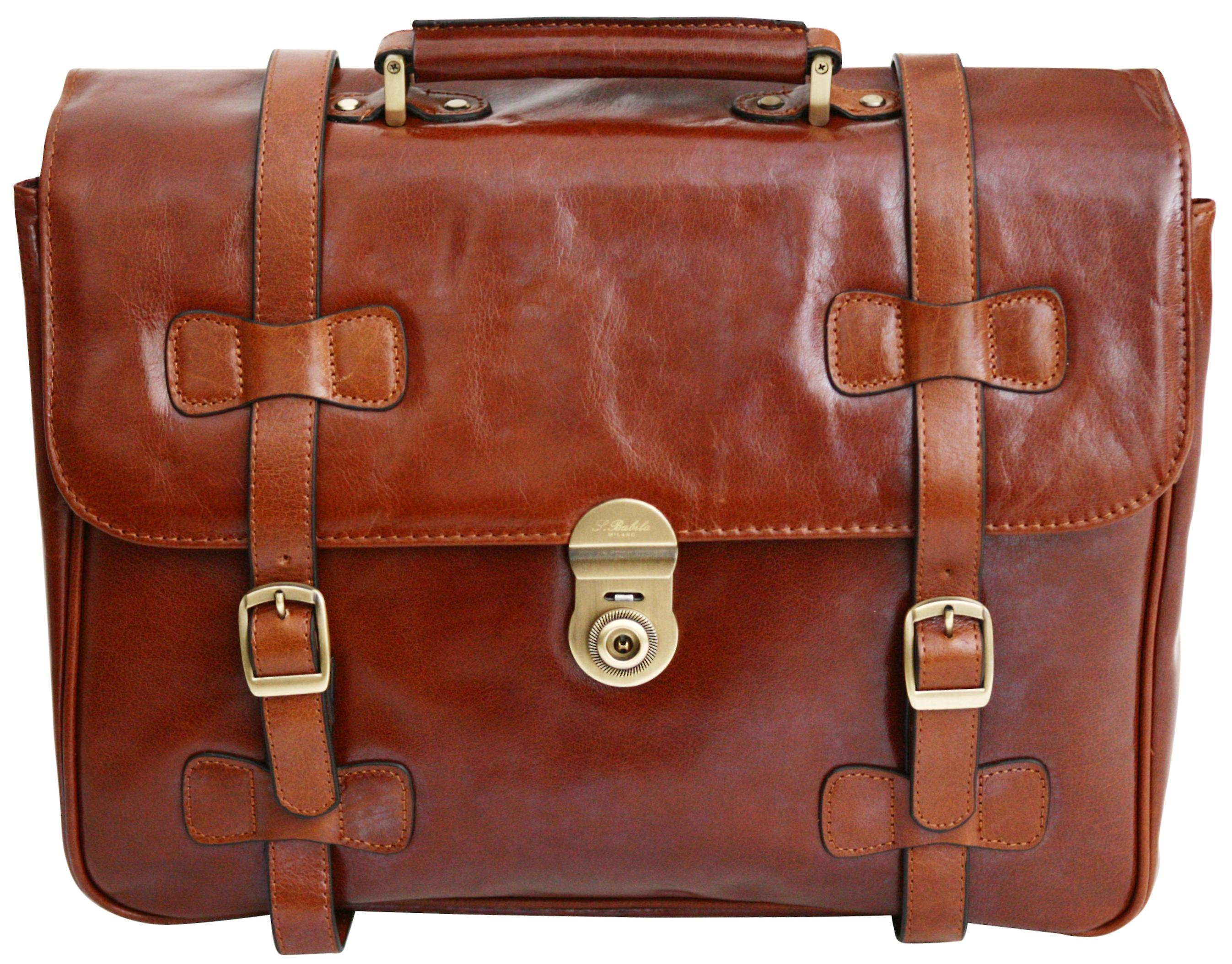 S Babila Leather Executive Briefcase Business Case Work Vinatge Style Satchel Shoulder Bag
