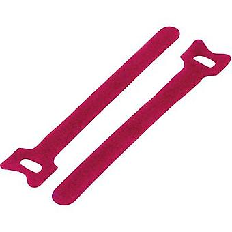 KSS MGT-135RD Hook-and-loop cable tie for bundling Hook and loop pad (L x W) 135 mm x 12 mm Red 1 pc(s)