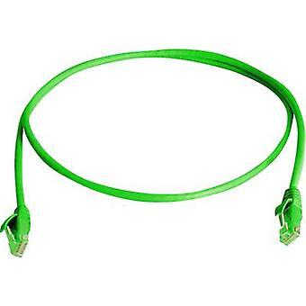 RJ45 Cable de redes CAT 5e U/UTP 3 m verde Telegärtner ignífugo, libre de halógenos