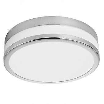 Eglo Palermo 24W varm hvid LED Flush Chrome loftslampe