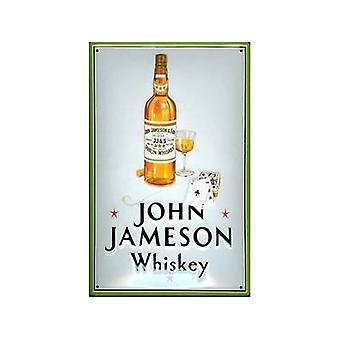 John Jameson Whiskey (Playing Cards) Embossed Steel Sign 300Mm X 200Mm
