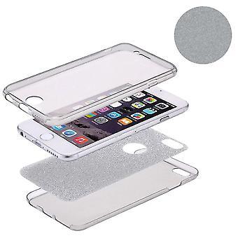 Housse Crystal Case pour Apple iPhone 5 / 5 s / SE cas Grau pleine de paillettes de corps
