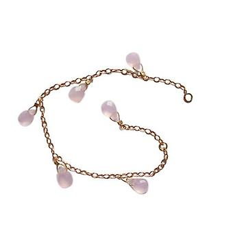 Gold children bracelet Rose Quartz bracelet KIM ANDREA children's jewellery