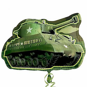 Anagram Supershape Army Tank Birthday Foil Balloon