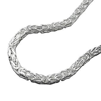 Chain ca. 3mm King chain square glossy Silver 925 50 cm