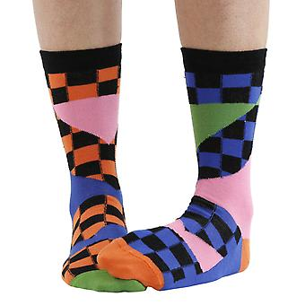 Splice combed cotton multicolour odd-socks | By seriouslysillysocks
