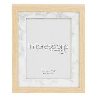 Juliana Impressions Wood Marble Effect Photo Frame 5x7 - Light Brown