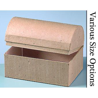Wide Paper Mache Treasure Chest Boxes - Sizes 6cm-28cm