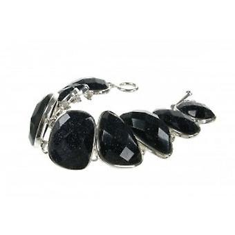 Cavendish French Silver and Blue Sandstone Pebbles Bracelet