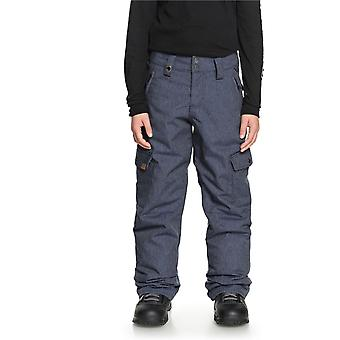 Quiksilver Dress Blues Porter Denim Kids Snowboarding Pants