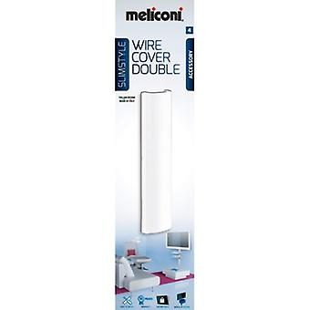 Meliconi SlimStyle Wire Cover, Double, Conduit, Angle Beads Super Slim, White