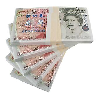 Play money-50 pounds (100 banknotes)