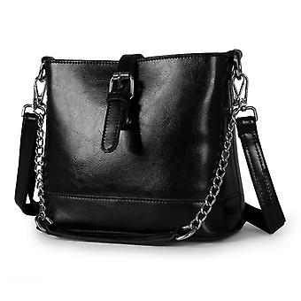 Shoulder handbag in genuine cow leather 23x19x11 cm