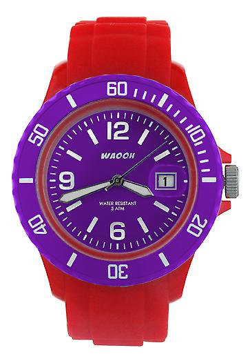Waooh - Watch Red Dial & Bezel MONACO38 Color
