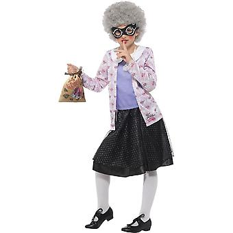 David Walliams Deluxe Gangsta Granny Costume, Fancy Dress,Tween 12+