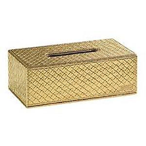 Gedy Marrakech Rectangular Tissue Box Gold 6708 87